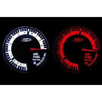 PRO RACING GAUGE 52mm - Benzin-levegő keverék, Benzin-levegő keverék, AFR Piros&FEHÉR